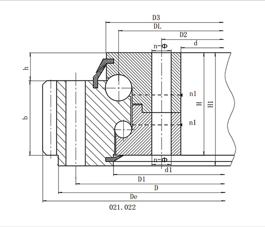 Series 02--Double Row Ball Slewing Bearing----External Gear
